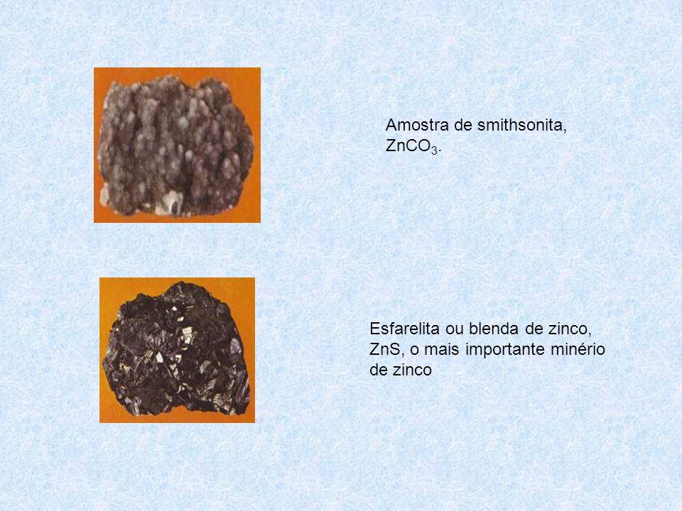 Amostra de smithsonita, ZnCO3.
