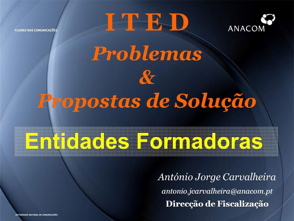 I T E D Problemas & Propostas de Solução