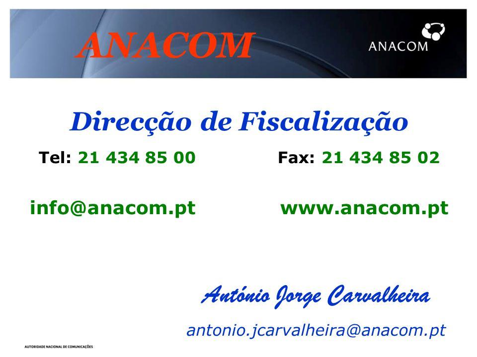 ANACOM Direcção de Fiscalização António Jorge Carvalheira