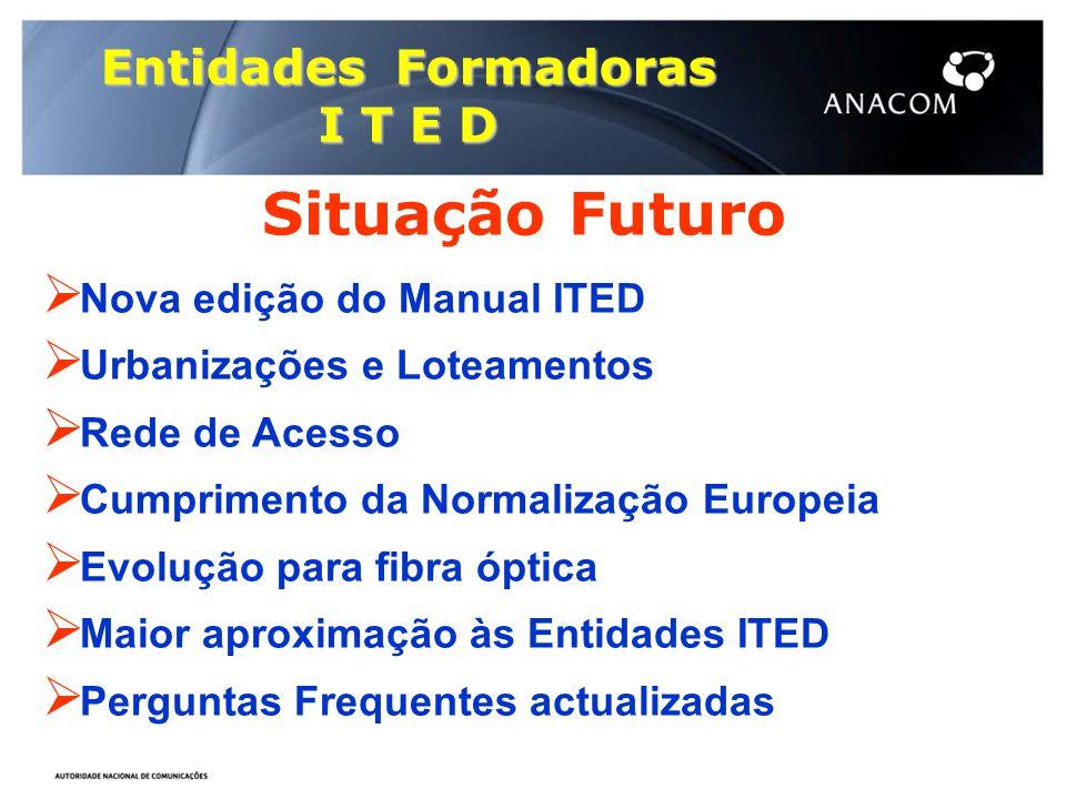 Situação Futuro Entidades Formadoras I T E D