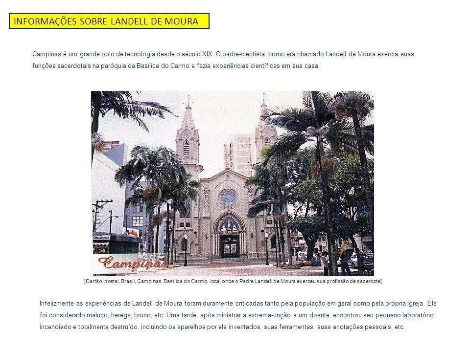 INFORMAÇÕES SOBRE LANDELL DE MOURA