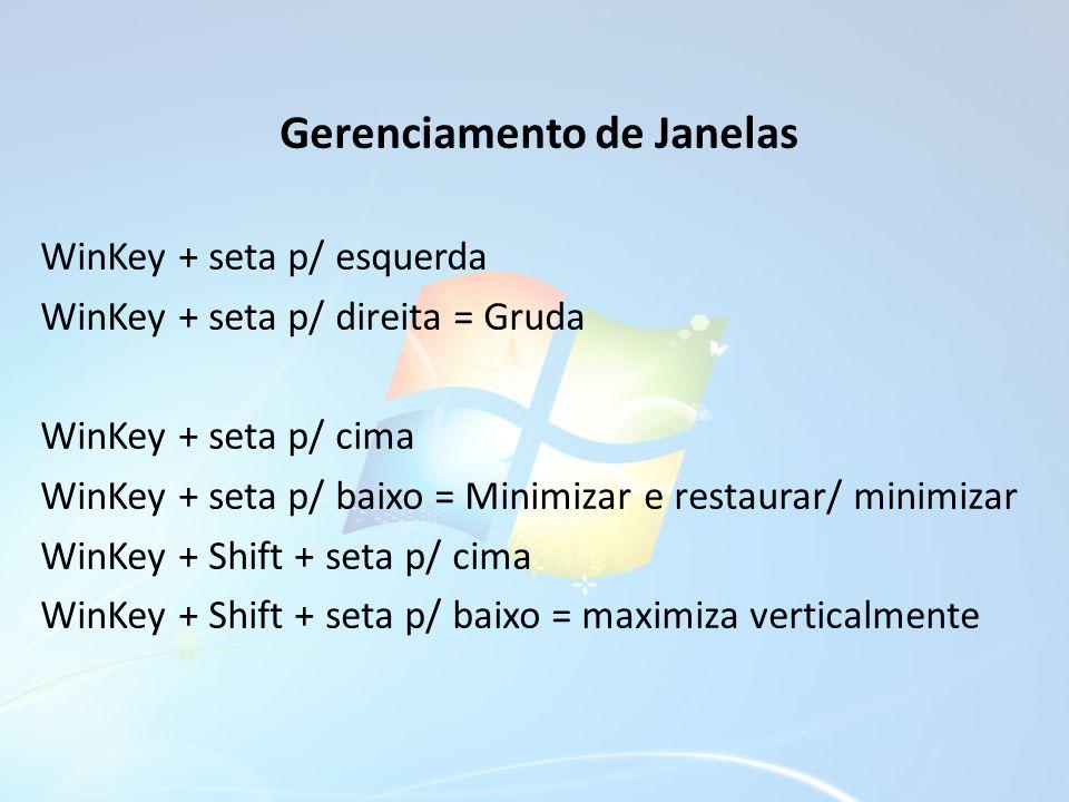Gerenciamento de Janelas