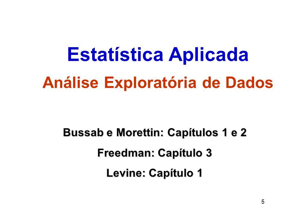 Estatística Aplicada Análise Exploratória de Dados