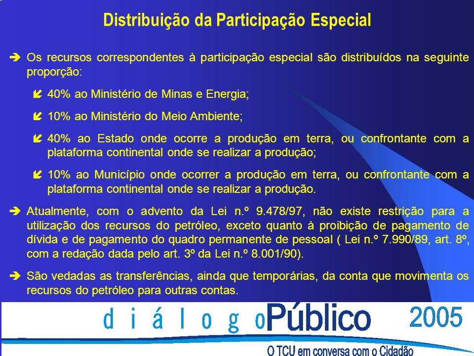Distribuição da Participação Especial