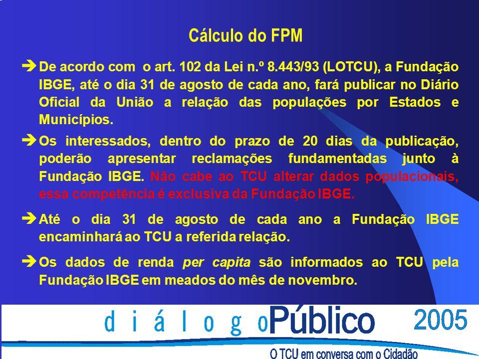 Cálculo do FPM