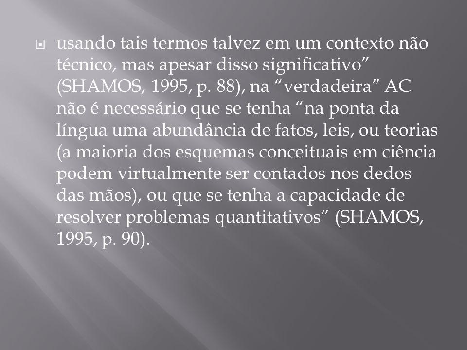 usando tais termos talvez em um contexto não técnico, mas apesar disso significativo (SHAMOS, 1995, p.