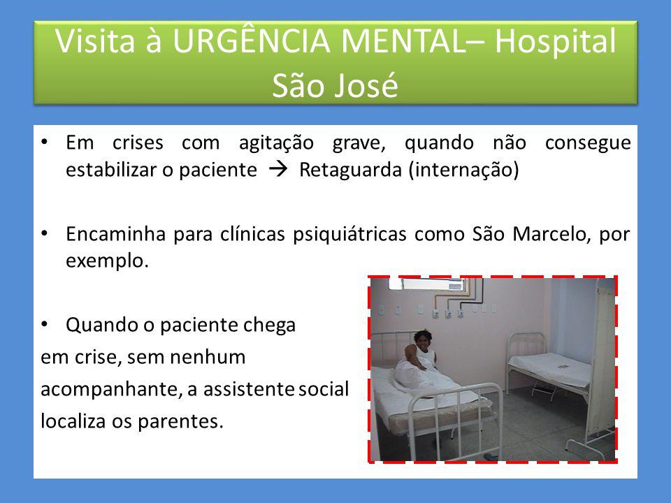 Visita à URGÊNCIA MENTAL– Hospital São José