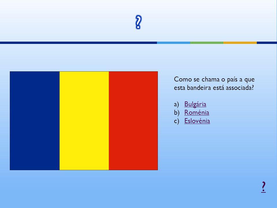 Como se chama o país a que esta bandeira está associada Bulgária