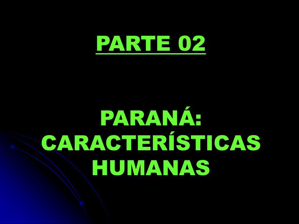 PARANÁ: CARACTERÍSTICAS HUMANAS
