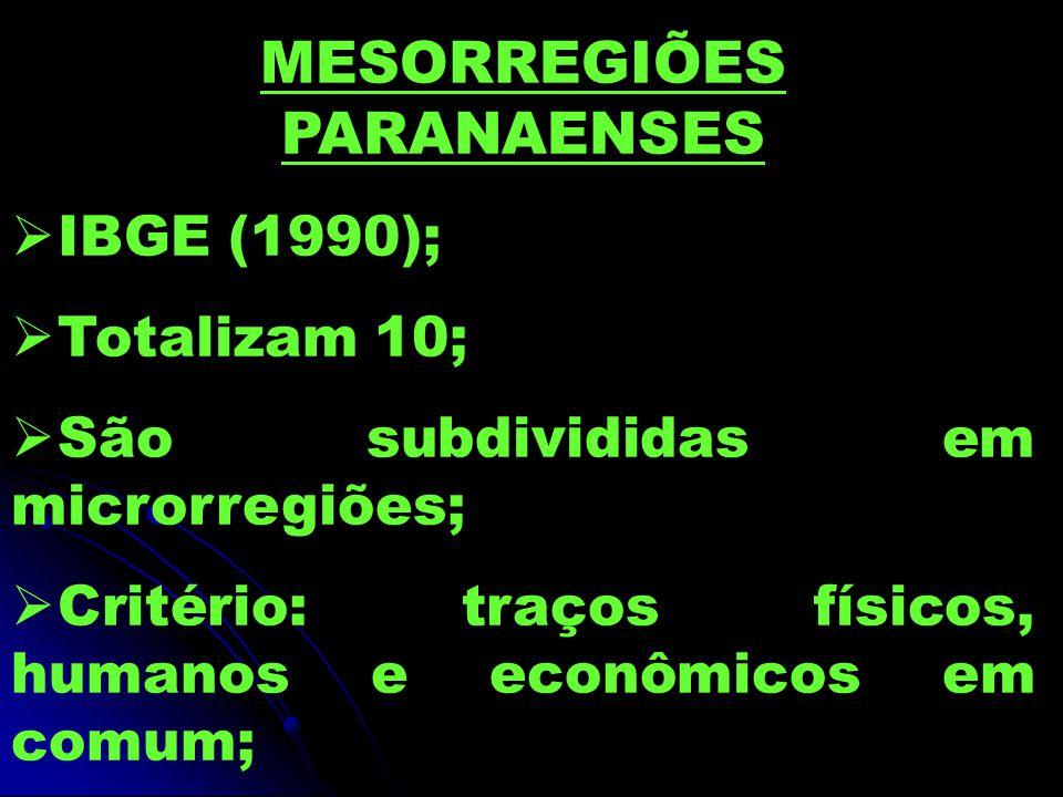 MESORREGIÕES PARANAENSES
