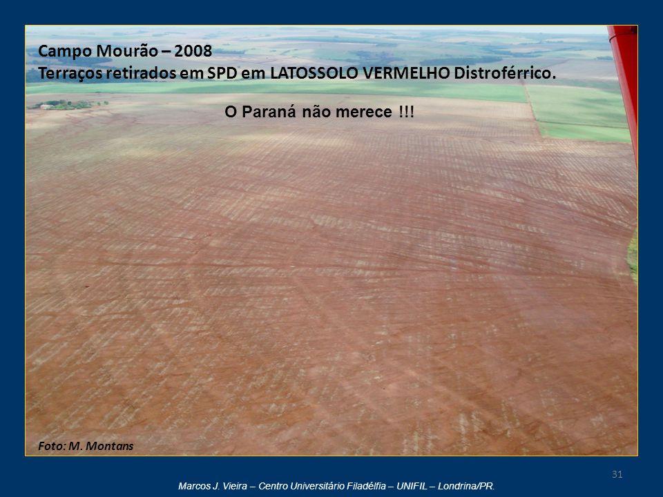 Terraços retirados em SPD em LATOSSOLO VERMELHO Distroférrico.
