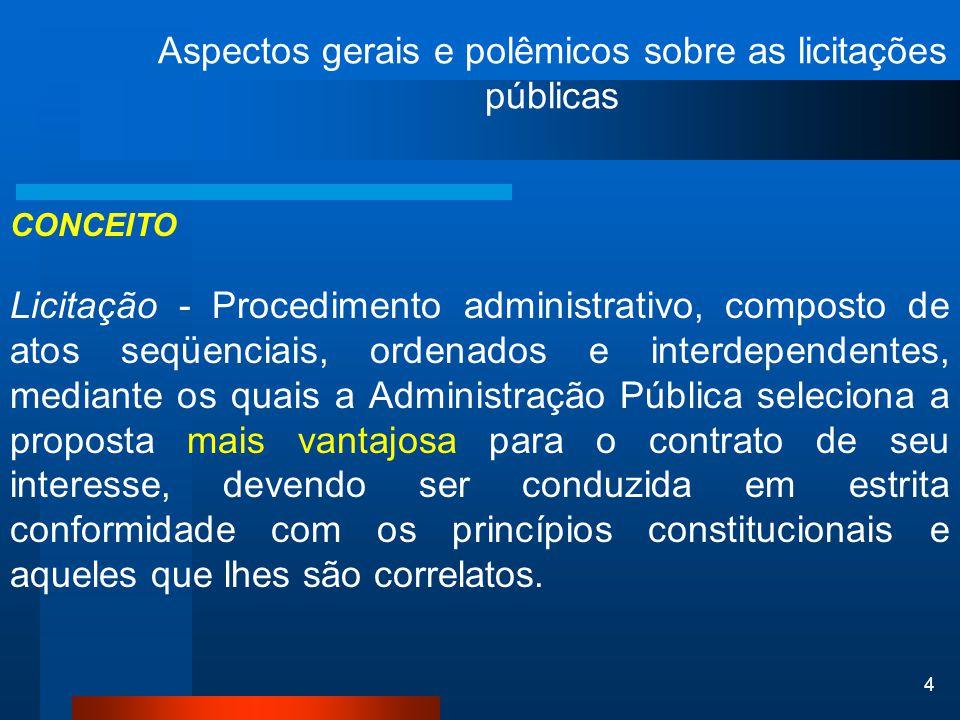 Aspectos gerais e polêmicos sobre as licitações públicas