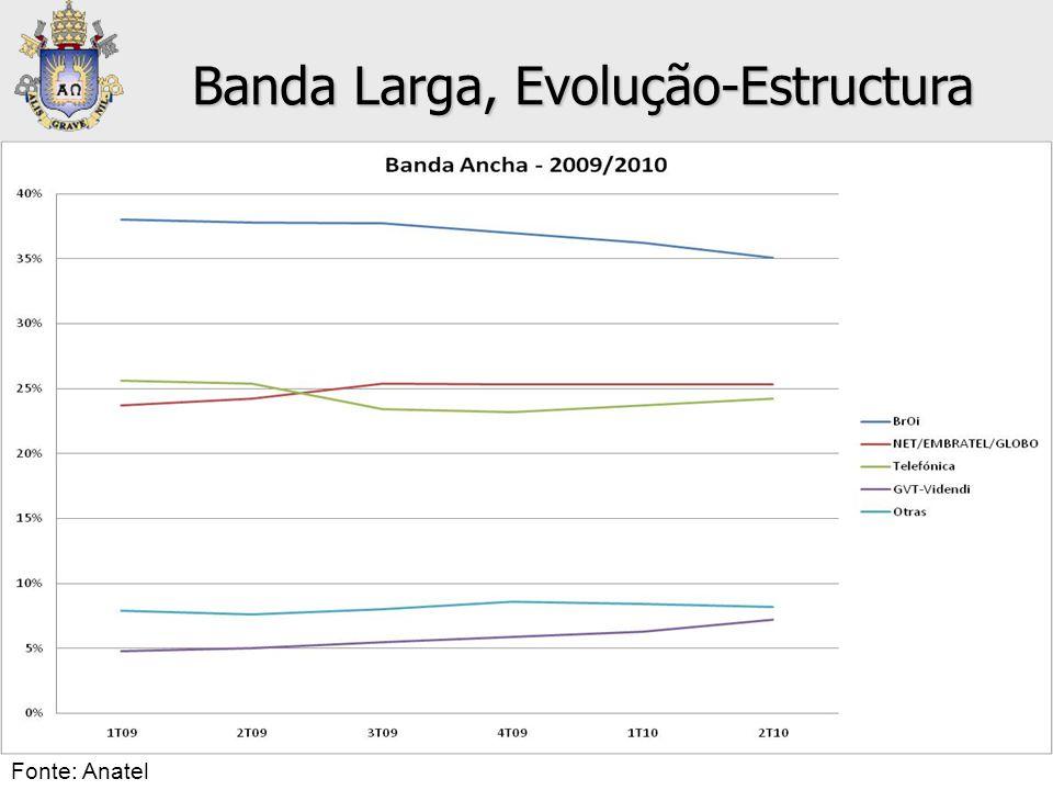 Banda Larga, Evolução-Estructura