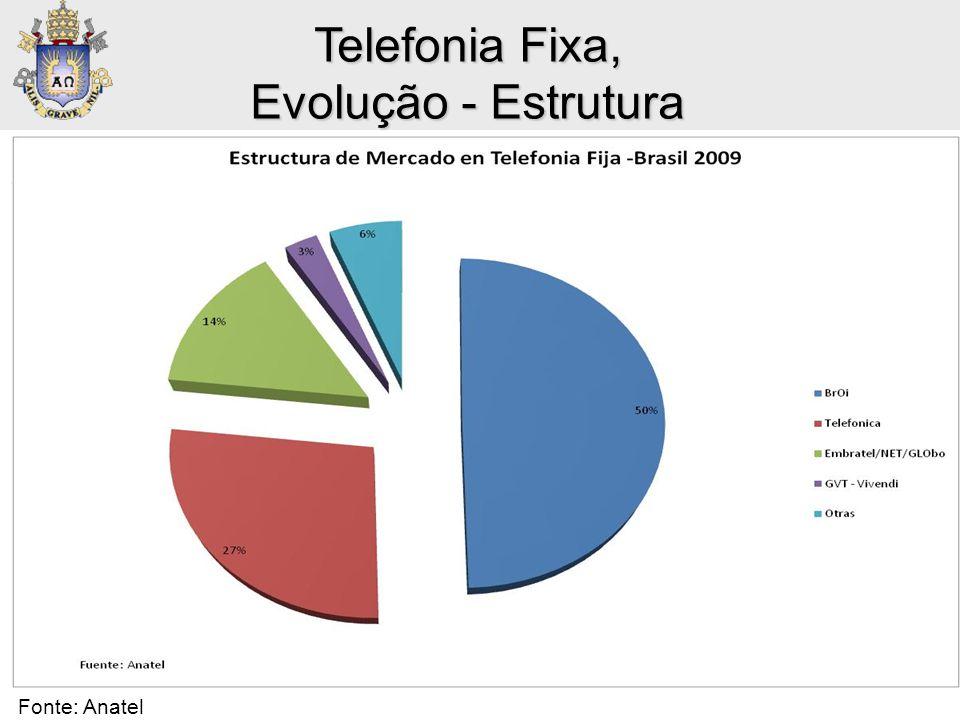 Telefonia Fixa, Evolução - Estrutura Telefonía Fija: Market Shares