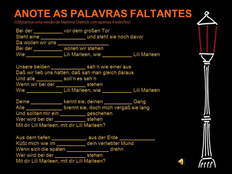ANOTE AS PALAVRAS FALTANTES