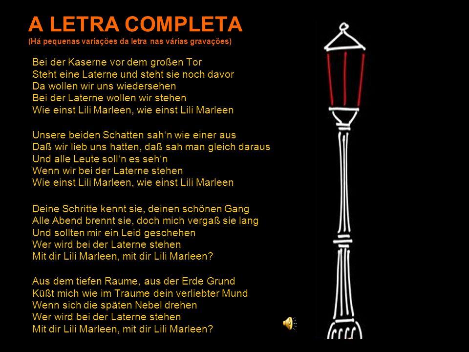 A LETRA COMPLETA (Há pequenas variações da letra nas várias gravações)