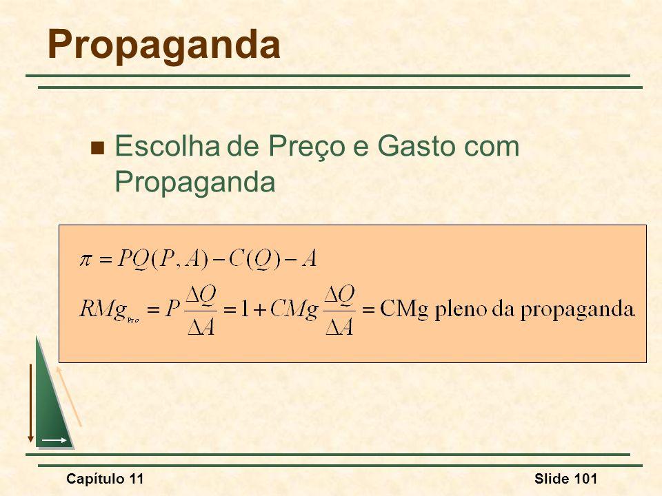 Propaganda Escolha de Preço e Gasto com Propaganda Capítulo 11 137
