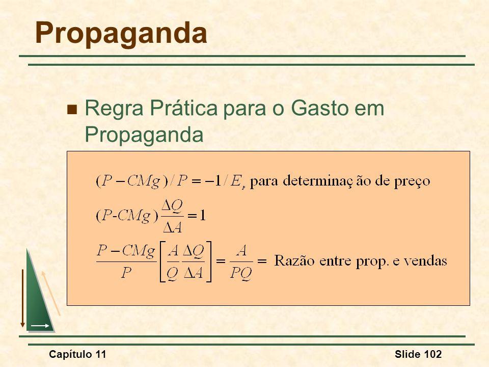 Propaganda Regra Prática para o Gasto em Propaganda Capítulo 11 138