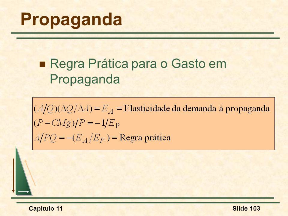 Propaganda Regra Prática para o Gasto em Propaganda Capítulo 11 139