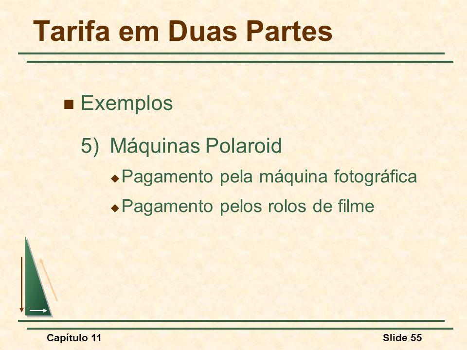 Tarifa em Duas Partes Exemplos 5) Máquinas Polaroid