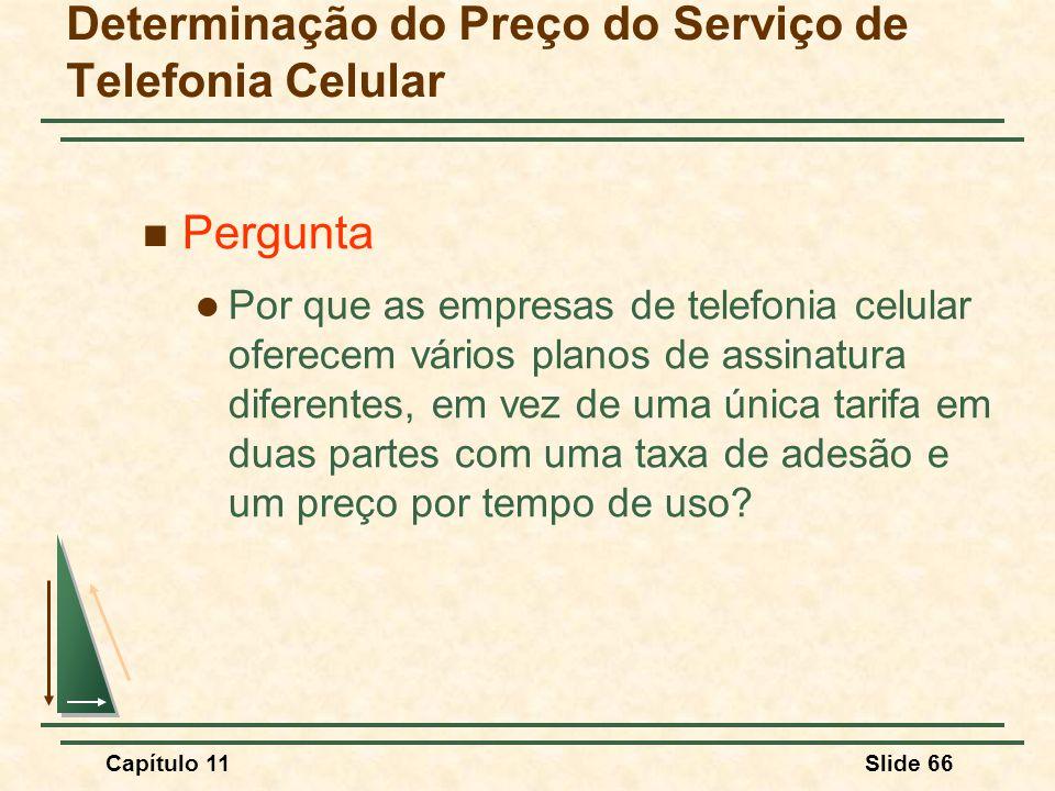 Determinação do Preço do Serviço de Telefonia Celular