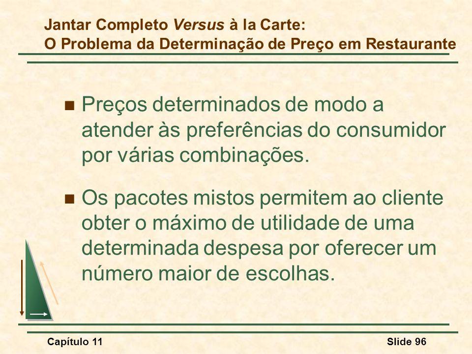 Jantar Completo Versus à la Carte: O Problema da Determinação de Preço em Restaurante