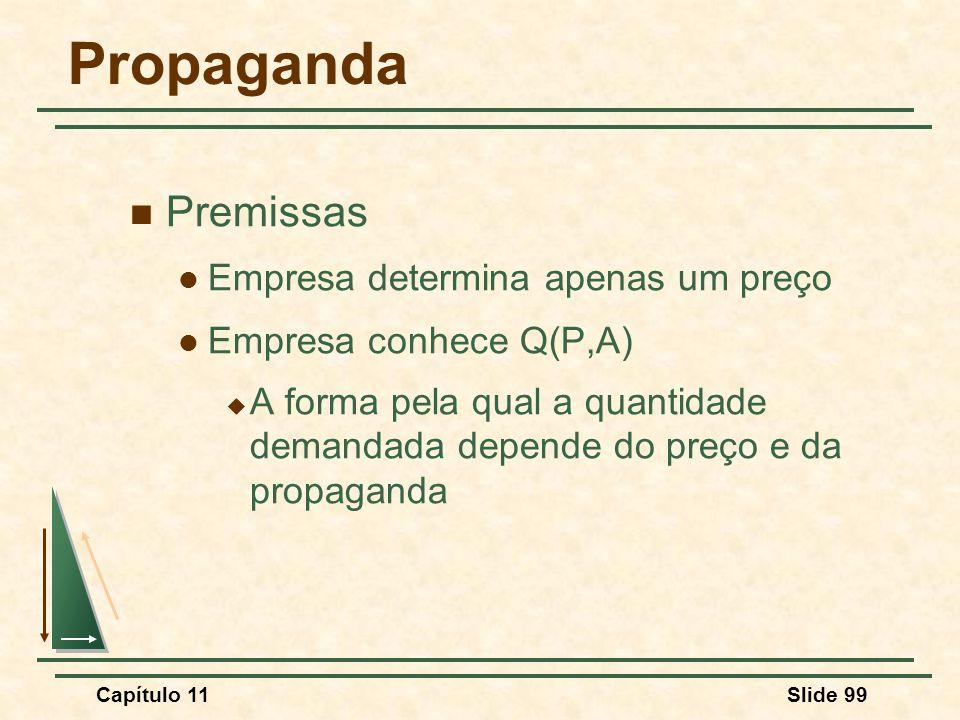 Propaganda Premissas Empresa determina apenas um preço