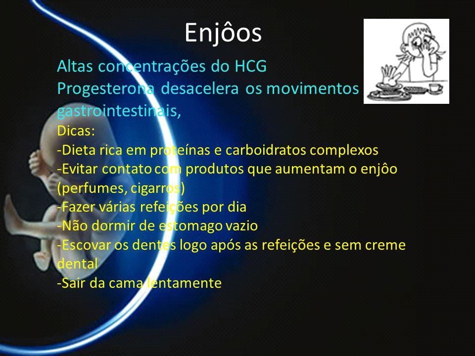 Enjôos Altas concentrações do HCG