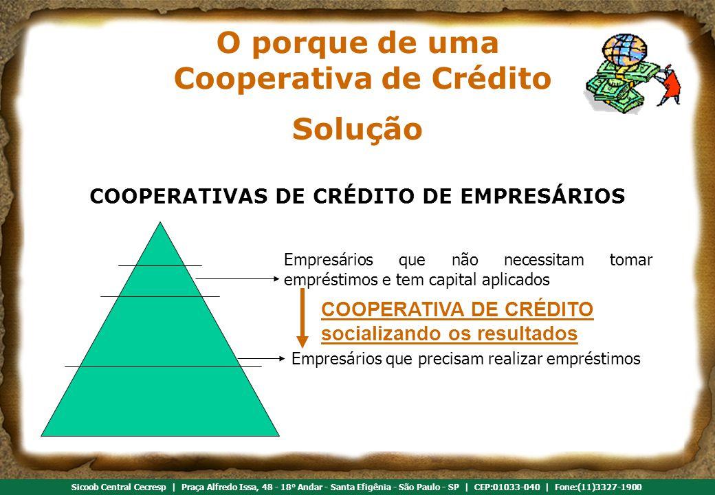 O porque de uma Cooperativa de Crédito Solução