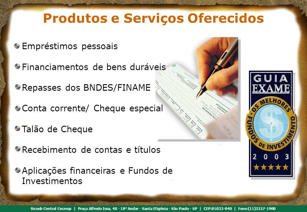 Produtos e Serviços Oferecidos
