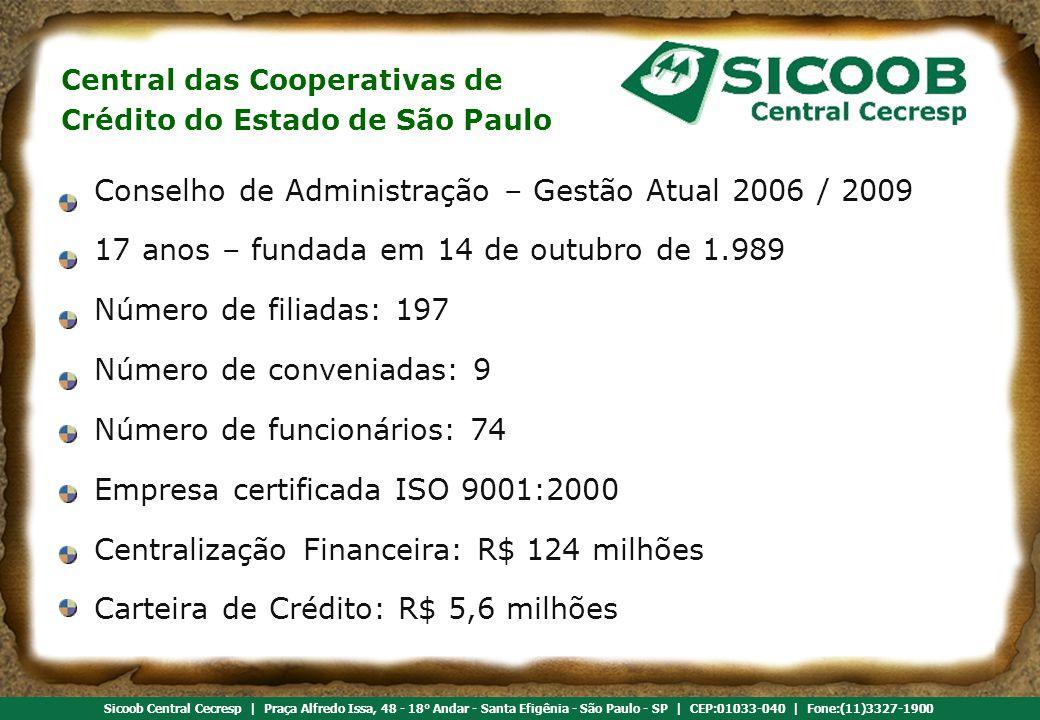 Conselho de Administração – Gestão Atual 2006 / 2009