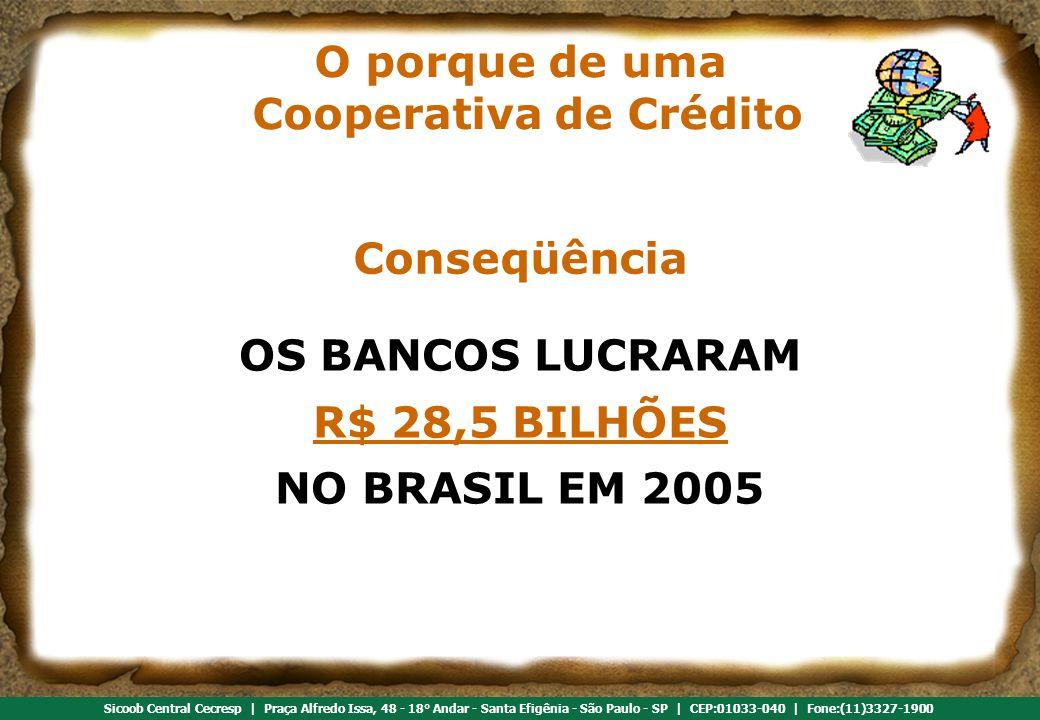 O porque de uma Cooperativa de Crédito
