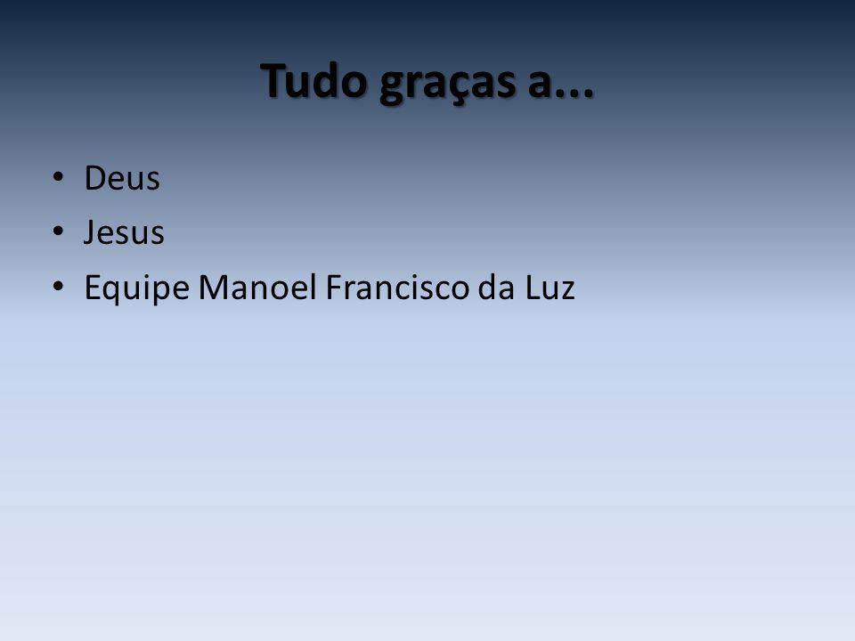 Tudo graças a... Deus Jesus Equipe Manoel Francisco da Luz