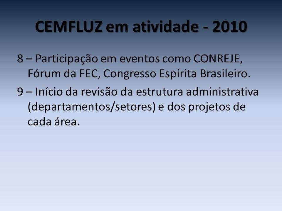 CEMFLUZ em atividade - 2010