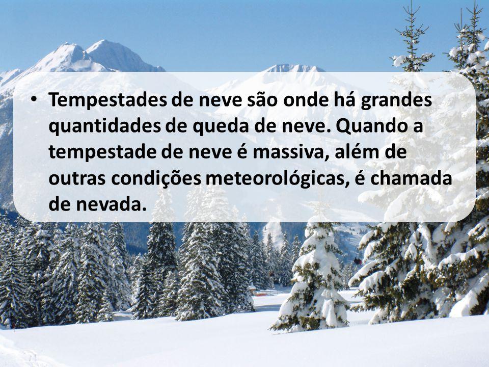 Tempestades de neve são onde há grandes quantidades de queda de neve
