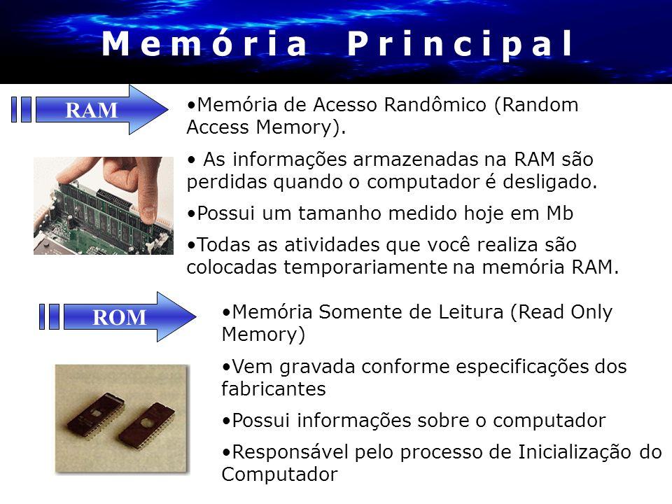 M e m ó r i a P r i n c i p a l RAM ROM