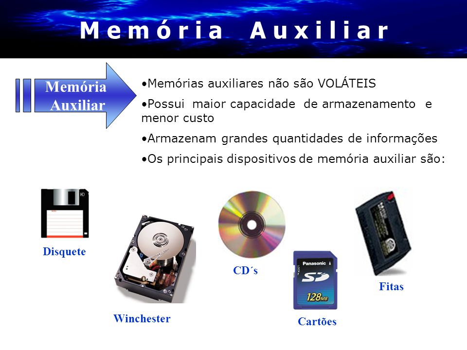 M e m ó r i a A u x i l i a r Memória Auxiliar