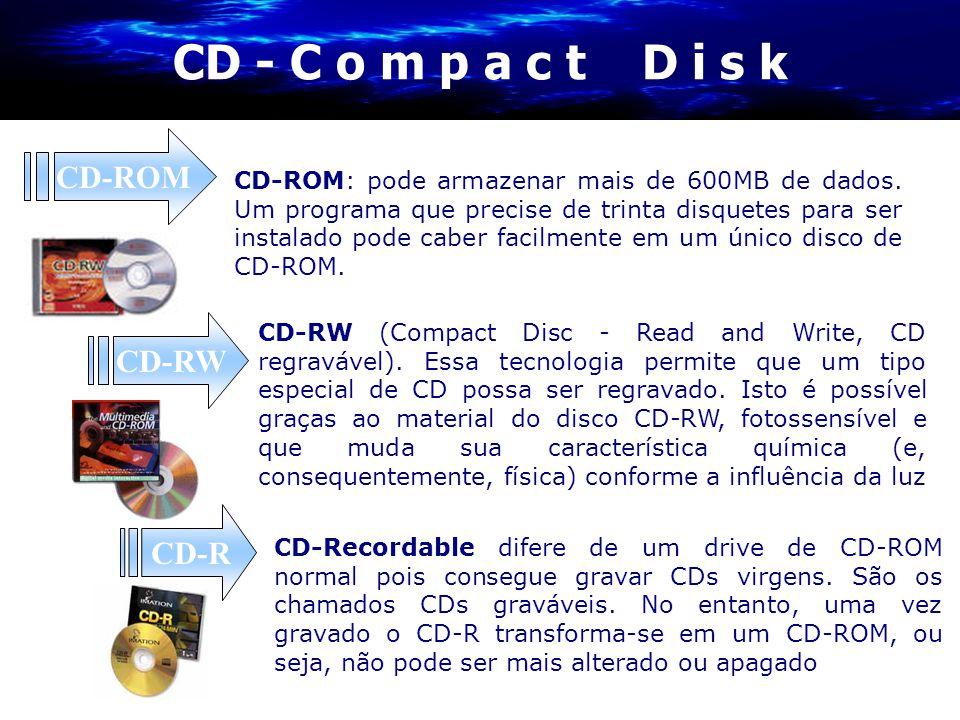 CD - C o m p a c t D i s k CD-ROM CD-RW CD-R