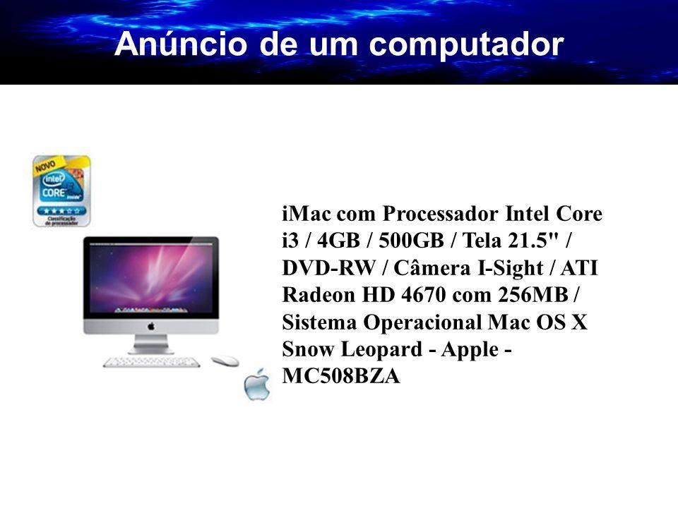 Anúncio de um computador