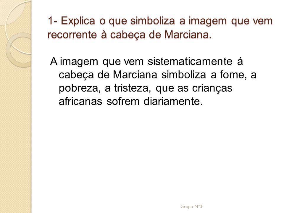 1- Explica o que simboliza a imagem que vem recorrente à cabeça de Marciana.