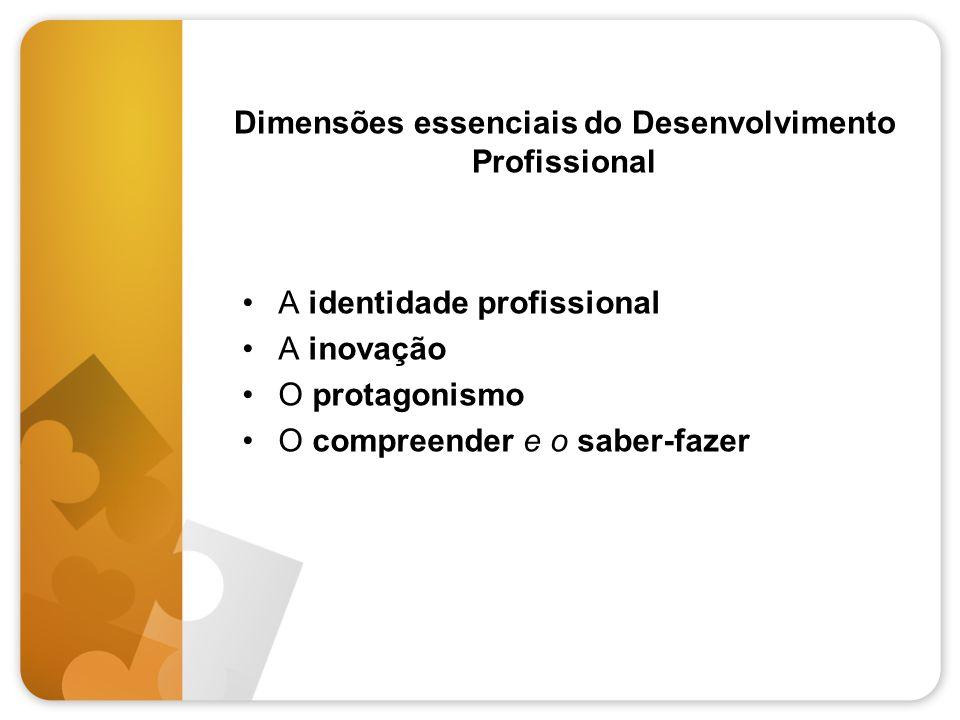 Dimensões essenciais do Desenvolvimento Profissional