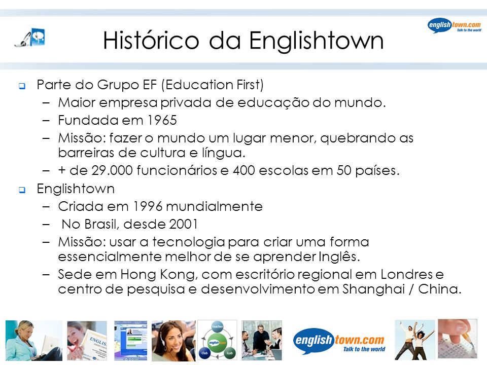 Histórico da Englishtown