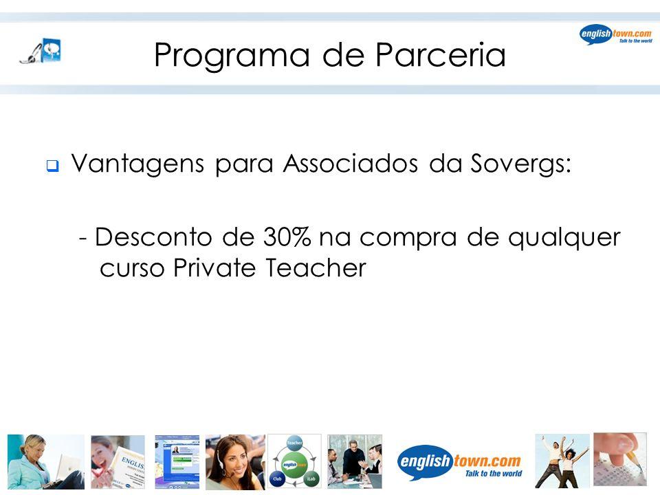 Programa de Parceria Vantagens para Associados da Sovergs: