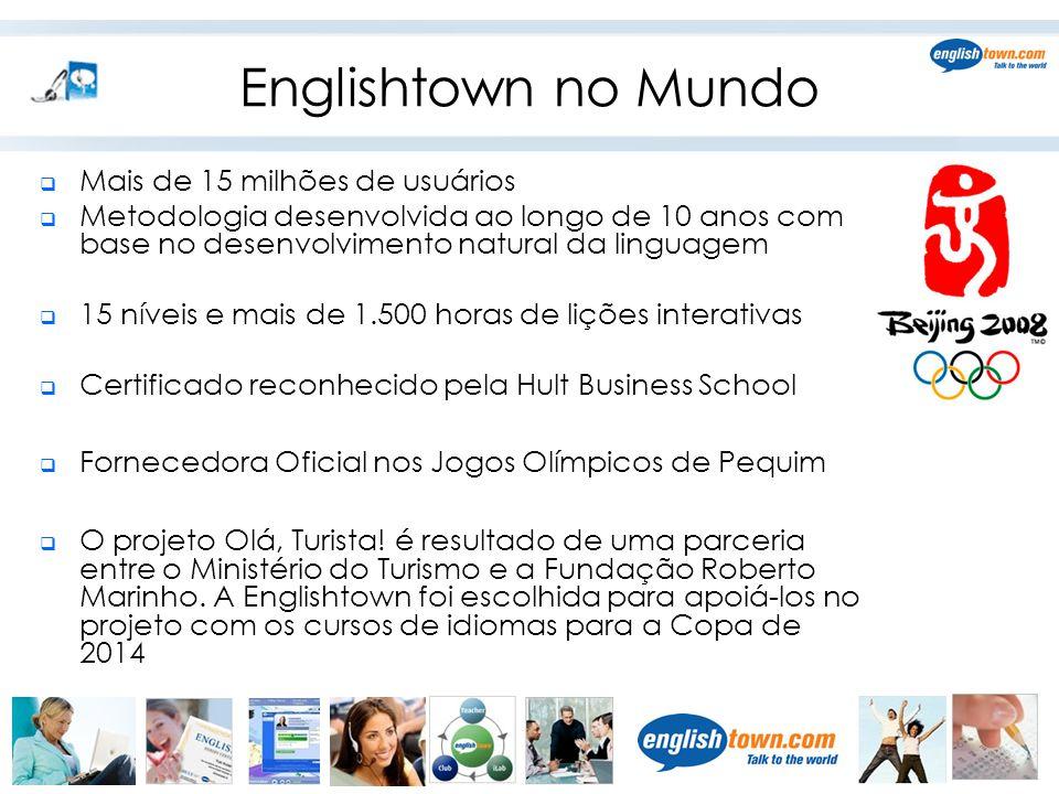 Englishtown no Mundo Mais de 15 milhões de usuários