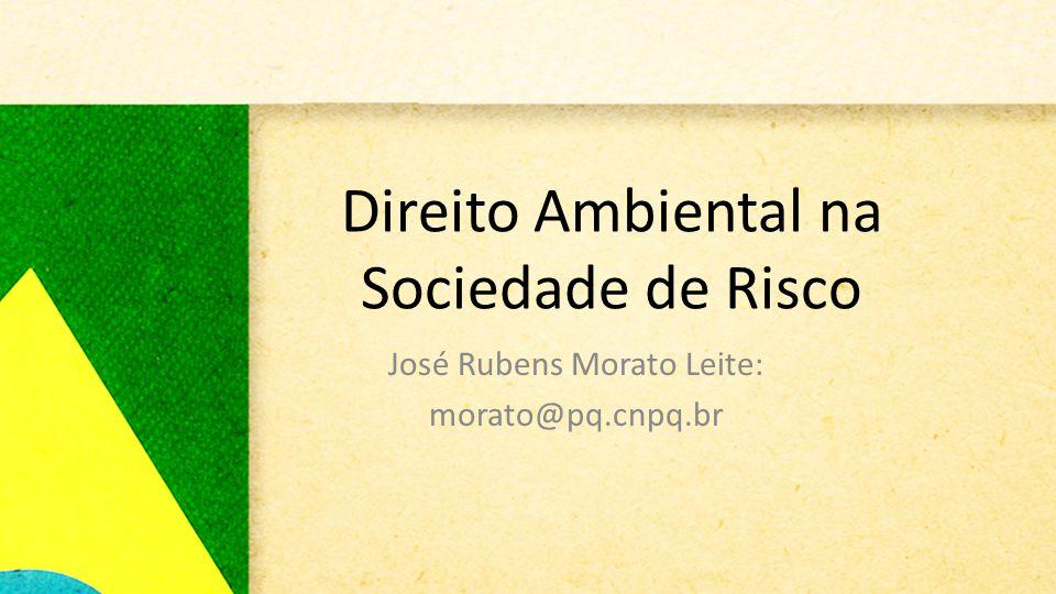 Direito Ambiental na Sociedade de Risco