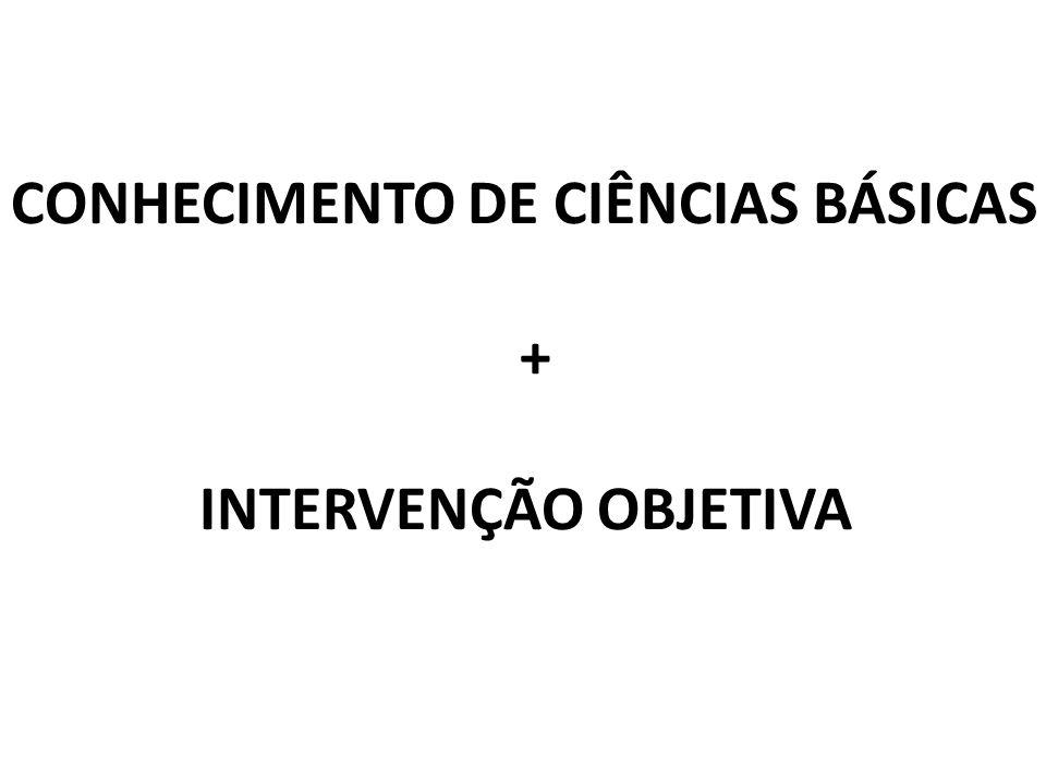 CONHECIMENTO DE CIÊNCIAS BÁSICAS
