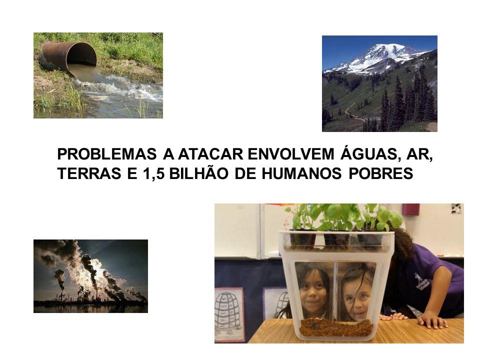 PROBLEMAS A ATACAR ENVOLVEM ÁGUAS, AR,
