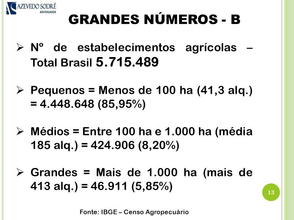 Fonte: IBGE – Censo Agropecuário