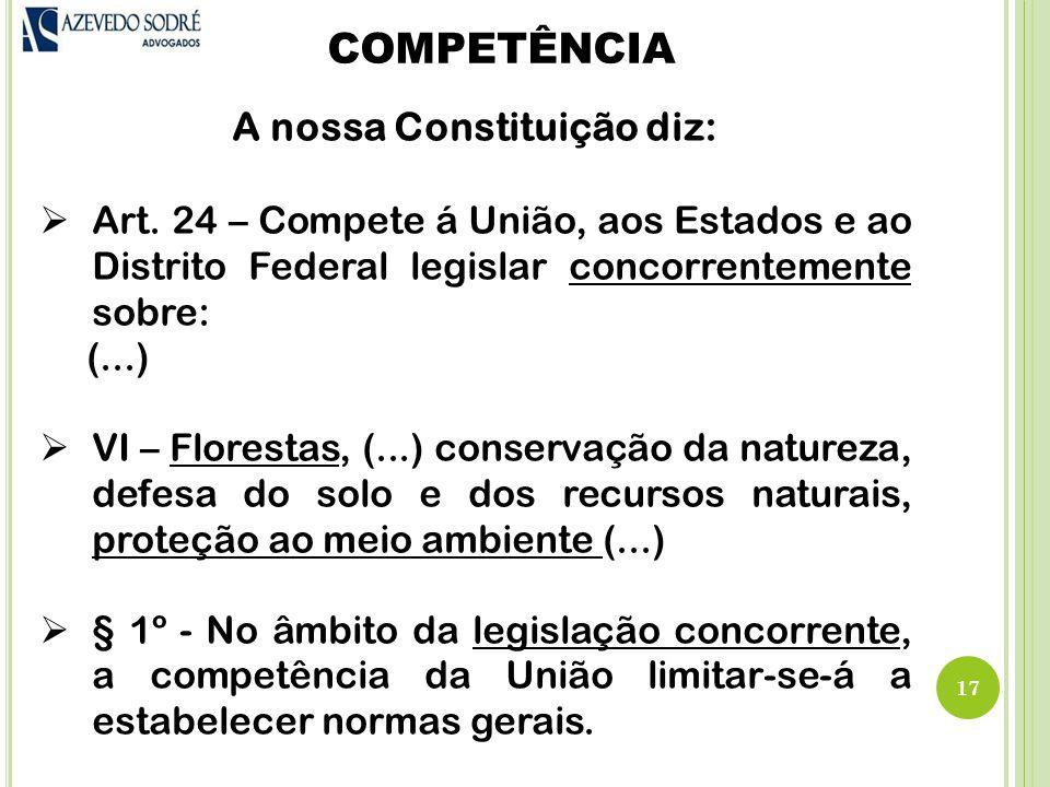 A nossa Constituição diz: