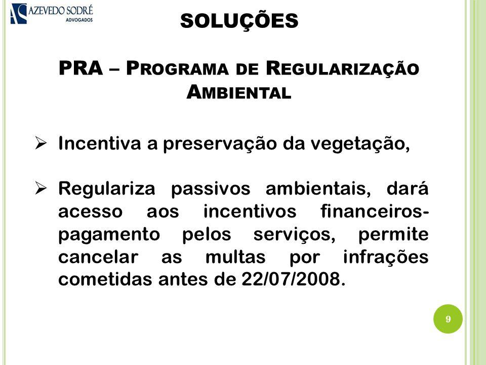 SOLUÇÕES PRA – Programa de Regularização Ambiental